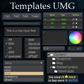 UMG Templates - Unreal Engine 4 - Tutorials & Resources by Tefel